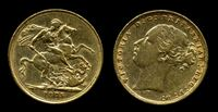 Picture of 1875M AUSTRALIA KM# 7 SOVEREIGN GOLD XF+