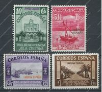 Image de Испания 193х гг. 4 не почтовые марки / UNUSED VF / Архитектура Корабли