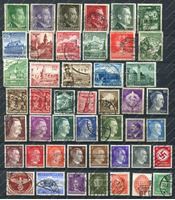 Image de Германия 3-й рейх лот 45+ старых марок / USED F-VF