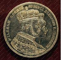 Изображение Пруссия 1861г. KM# 488 / Талер / AUNC / Серебро