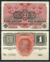 Изображение Австрия 1919г. P# 49 / 1 крона / XF+