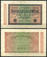 Изображение Германия 1923г. P# 85 / 20 тыс. марок / XF-AU
