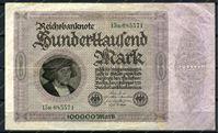 Изображение Германия 1923г. P# 83a / 100 тыс. марок / XF
