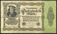 Изображение Германия 1922г. P# 79 / 50 тыс. марок / XF