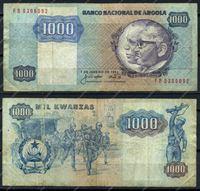 Изображение Ангола 1984г. P# 121a / 1000 кванза / F-VF