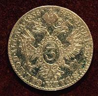 Изображение Австрия 1838г. A KM# 2191 / 3 крейцера / XF / Серебро