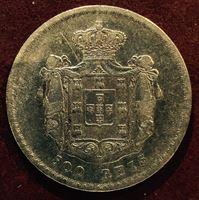 Изображение Португалия 1856г. KM# 494 / 500 рейс / XF / Серебро