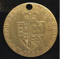 Изображение Золотая гинея 1798г. копия
