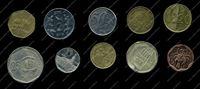 Изображение 10 разных иностранных монет / VF-AU / лот № 4