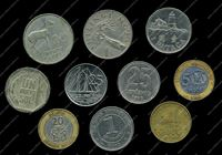 Picture of 10 different foreign coins VF-AU / lot # 11