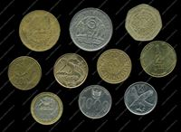 Picture of 10 different foreign coins VF-AU-lot # 12