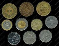 Изображение 10 разных иностранных монет / VF-AU / лот № 14
