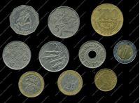 Изображение 10 разных иностранных монет / VF-AU / лот № 15