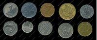 Изображение 10 разных иностранных монет / VF-AU / лот № 1