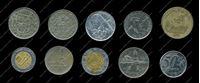 Изображение 10 разных иностранных монет / VF-AU / лот № 2