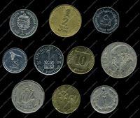 Изображение 10 разных иностранных монет / VF-AU / лот № 5