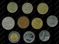 Изображение 10 разных иностранных монет / VF-AU / лот № 6