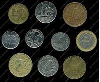 Изображение 10 разных иностранных монет / VF-AU / лот № 9