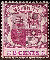 Изображение Маврикий 1904-1907 гг. Gb# 165 • Герб колонии / 2с • MH OG VF ( кат.- £35 )