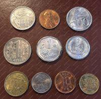 Изображение 10 разных монет мира в блеске / UNC-MS BU / лот № 3
