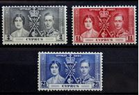 Bild von Кипр 1937 г. Gb# 148-150 • Коронация • MLH OG VF • полн. серия ( кат.- £8 )