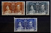 Bild von Британский Золотой Берег 1937 г. Gb# 117-119 • Коронация • MLH OG VF • полн. серия ( кат.- £6,5 )