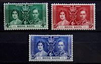 Bild von Гонконг 1937 г. Gb# 137-139 • Коронация • MLH OG XF • полн. серия ( кат.- £25 )