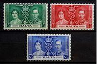Bild von Мальта 1937 г. Gb# 214-216 • Коронация • MH OG VF • полн. серия ( кат.- £2,75 )