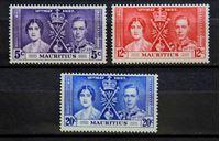 Bild von Маврикий 1937 г. Gb# 249-251 • Коронация • MLH OG VF+ • полн. серия ( кат.- £2,75 )