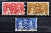 Bild von Монтсеррат 1937 г. Gb# 98-100 • Коронация • MNH OG XF • полн. серия ( кат.- £1,75 )
