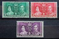 Bild von Ньюфаундленд 1937 г. Gb# 254-256 • Коронация • MNH OG • полн. серия ( кат.- £5 )
