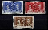 Bild von Нигерия 1937 г. Gb# 46-48 • Коронация • MLH OG • полн. серия ( кат.- £6,25 )