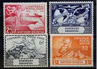 Bild von Северная Родезия 1949 г. Gb# 50-53 • Почтовый союз • MNH OG • полн. серия ( кат.- £3,5 )
