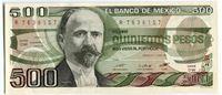 Изображение Мексика  1984г.  • 500 песо •  UNC пресс
