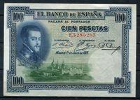 Bild von Испания  1925г.  P# 69 • 100 песет •  AU