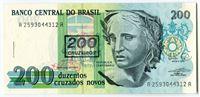 Bild von Бразилия 1990 г. • 200 крузейро на новых крузадо • UNC пресс