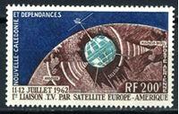 Image de Новая Каледония  1962г. SC# C33  • 200 fr. Спутник Телсат •  MLH OG XF ( кат.- $25 )