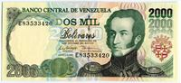 Изображение Венесуэла 1998 г. • 2000 боливаров • UNC пресс