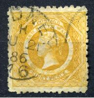 Изображение Австралия • Новый Южный Уэльс 1882 - 1897 гг. • Gb# 236w • 8 d. перф. 10 перевернутый в.з. • Used VF