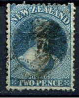 Изображение Новая Зеландия 1862 г. Gb# 72 • 2 d. Королева Виктория • Used ( кат.- £75 )