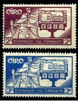 Изображение Ирландия 1937г. Gb# 105-6  • День Конституции •   XF • полн. серия ( кат.- £8 )