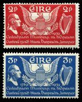 Picture of Ирландия 1939г. Gb# 109-10  • 150 лет Конституции США •   XF • полн. серия ( кат.- £6 )