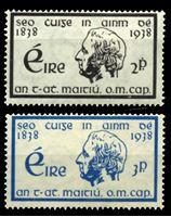 Изображение Ирландия 1938г. Gb# 107-8  • отец Мэтью •   XF • полн. серия ( кат.- £15 )