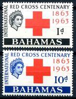 Изображение Багамы 1963г. Gb# 226-7  • Красный крест •   XF • полн. серия