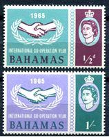 Изображение Багамы 1965г. Gb# 265-6 • Год кооперации • MNH OG XF • полн. серия