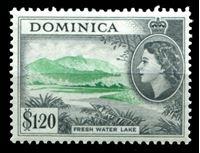 Image de Доминика 1954-62 гг.  Gb# 157  • 1.20$. Пресное озеро •   XF ( кат.- £22 )
