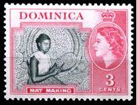 Image de Доминика 1954-62 гг.  Gb# 144  • 3c. Вышивание •   XF ( кат.- £4 )