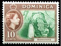 Image de Доминика 1954-62 гг.  Gb# 150  • 10c. сбор бананов •   XF ( кат.- £6 )