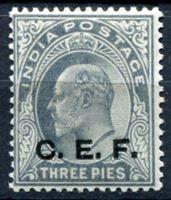 Изображение Индия 1905-11 гг.  Gb# C13  • 3p. Экспедиционный корпус в Китае VF ( кат.- £12 )