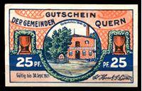 Изображение Германия    Кверн  1921г.  • 25 пф. Вид комунны с холма •  UNC пресс
